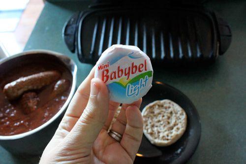 babybel Cheesy Pizza Panini
