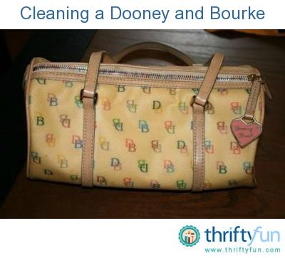 This guide is about cleaning a Dooney and Bourke purse. These popular purses can look great again with proper cleaning.