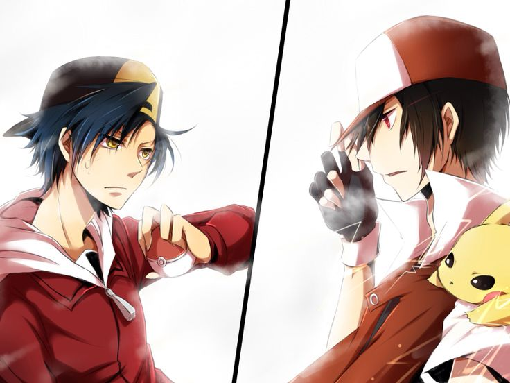 Gold and Red from Pokemon