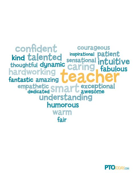 Teacher Appreciation Word Cloud!