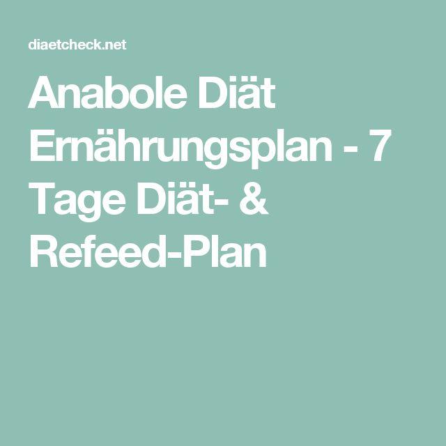Anabole Diät Ernährungsplan - 7 Tage Diät- & Refeed-Plan