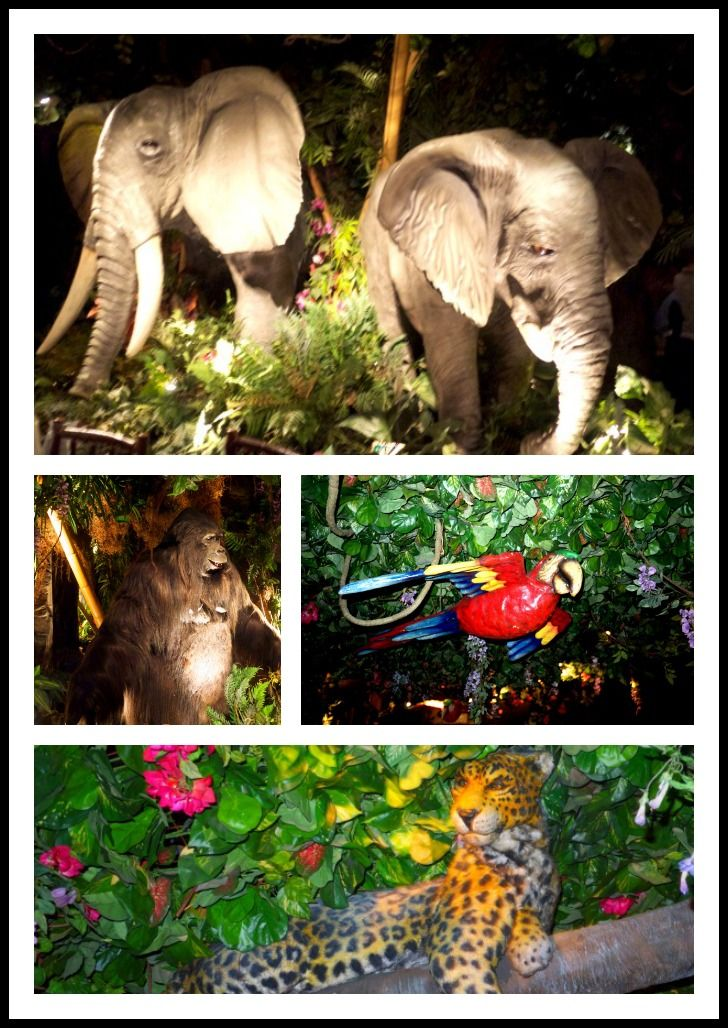 Birthday celebration at the Rainforest Cafe London. The animatronics are fab, the 3 and 4 year old were a little startled at first, but once they got into it they were going off on their own Rainforest expeditions, hand-in-hand...
