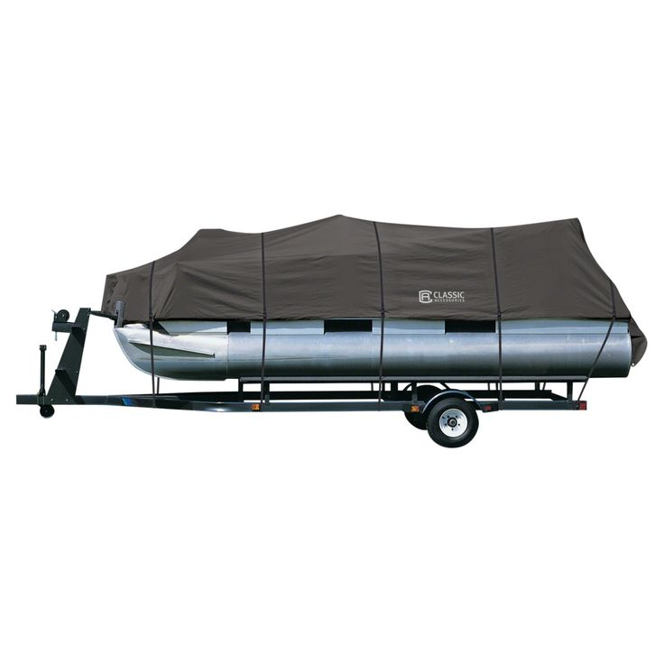 Classic Accessories Pontoon Boat Cover - Charcoal - 20-027-080801-00