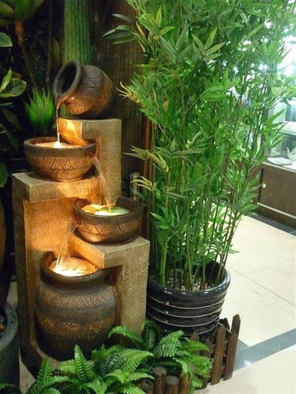20 Examples Fountain Design In A Minimalist Home Garden Check More At Http Justhomeideas Com 20 Indoor Water Features Indoor Fountain Indoor Water Fountains