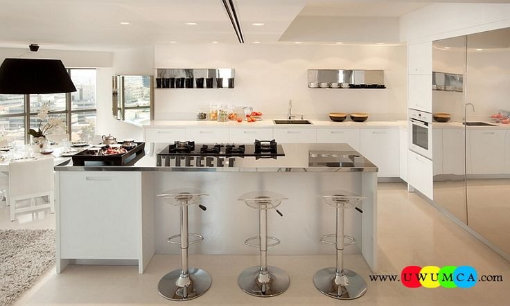 Kitchen:How To Clean Stainless Steel Kitchen Appliances Sinks Utensils Best Countertops Island Carts Table Chairs Dining Room Worktops Beautiful Kitchen With Plenty Of Reflective Surfaces How to Clean Stainless Steel for a Sparkling Kitchen Appliances and Sinks then Utensils