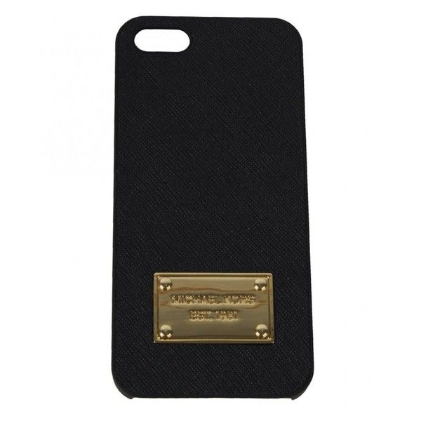 Michael Kors I Phone 5 Case In Saffiano Leather ($37) ❤ liked on Polyvore featuring men's fashion, men's accessories, men's tech accessories, accessories, electronics, phone cases, case, phone and michael kors