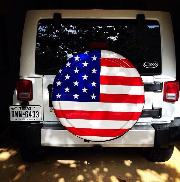 American Flag Spare Tire Cover Jeeps Pinterest More