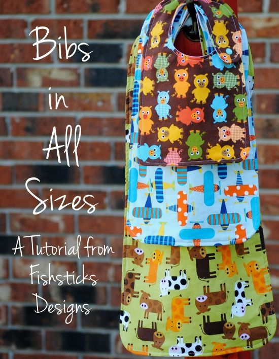 The Bibs in All Sizes Tutorial #sewing #fabric #spiceberrycottage