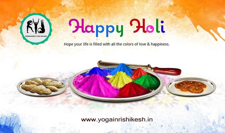 Yoga in #Rishikesh #Wishes you a Happy & #Safe Holi http://yogainrishikesh.in