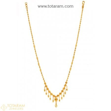 22K Gold Necklace for Women - 235-GN2183 - Buy this Latest Indian Gold Jewelry Design in 13.700 Grams for a low price of  $784.20