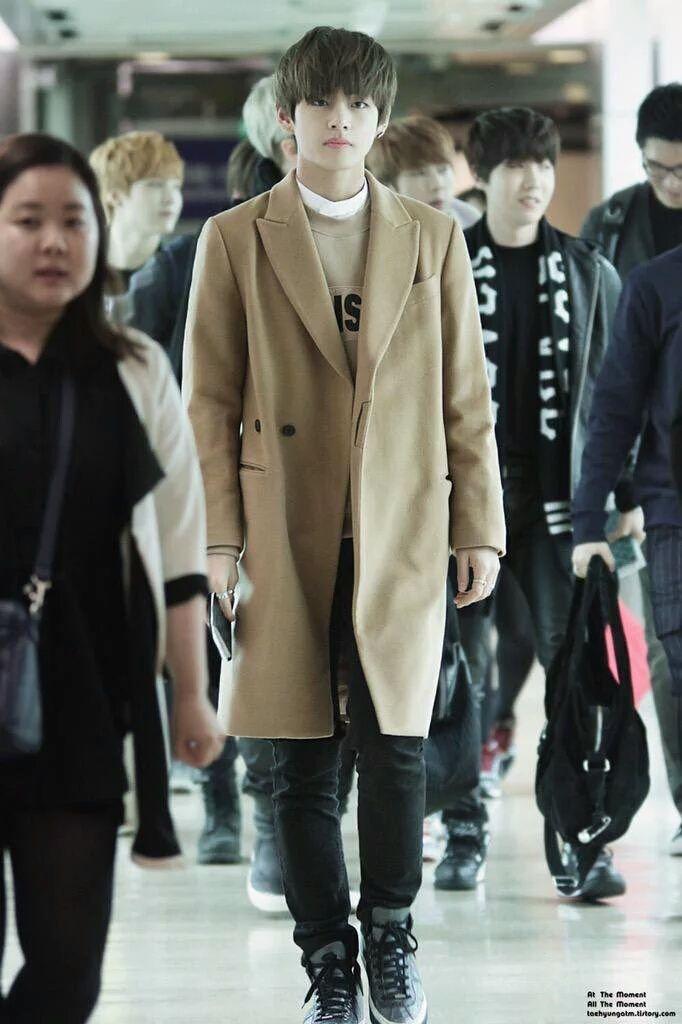 taehyung + airport fashion
