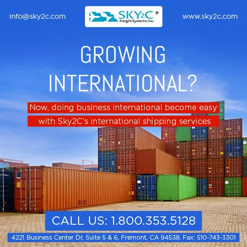 Sky2C Freight Systems is one of the reputed company in USA. Are you looking for affordable and cost effective #international #cargo #shipping for your commercial goods ? Sky2c freight system is a best place to fulfill your requirement. contact us for domestic and international cargo delivery