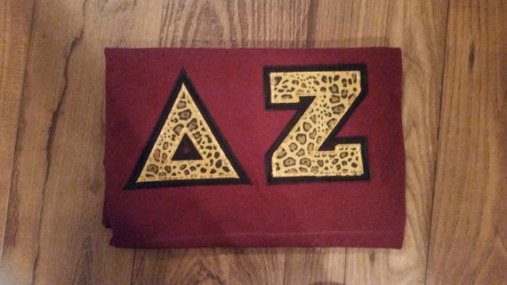 Delta Zeta Letter Shirts by BlueFrogArt on Etsy