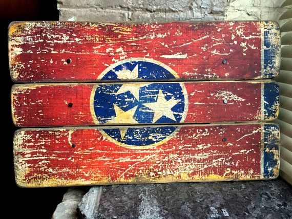 Tennessee State Flag Distressed Barn Wood Art Barn Wood Art Tennessee State Flag Barn Wood Crafts