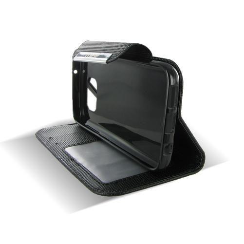 Samsung Galaxy S7 Black Flip Leather Case
