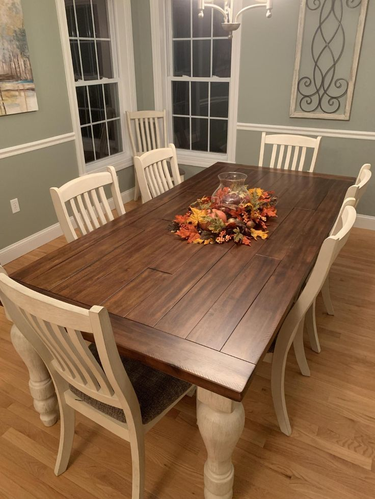 Rustic Kitchen Tables Dining Table, Marsilona Dining Room Table