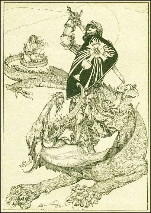 Willy Pogany (Hungarian, 1882-1955), illustration from Parsifal (1912):
