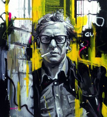 Sixties Style - Michael Caine (Box Canvas) by Zinsky