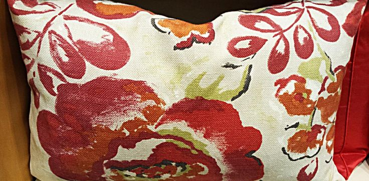 Bold painted floral cushion by John Lewis