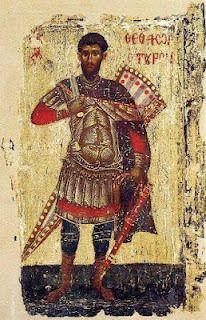Άγιος Θεόδωρος, εικόνα 13ου αι.,Πάτμος