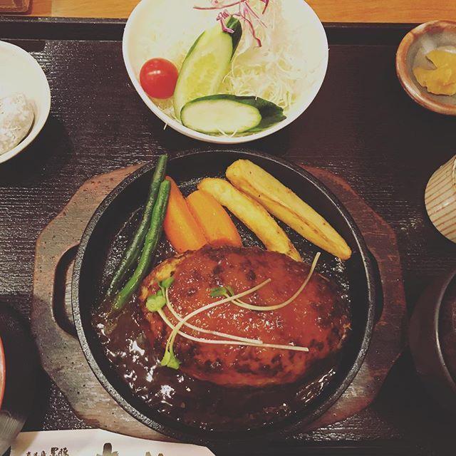 黒豚ハンバーグとても美味しかった! #鹿児島#黒豚#黒豚ハンバーグ#夕飯#肉