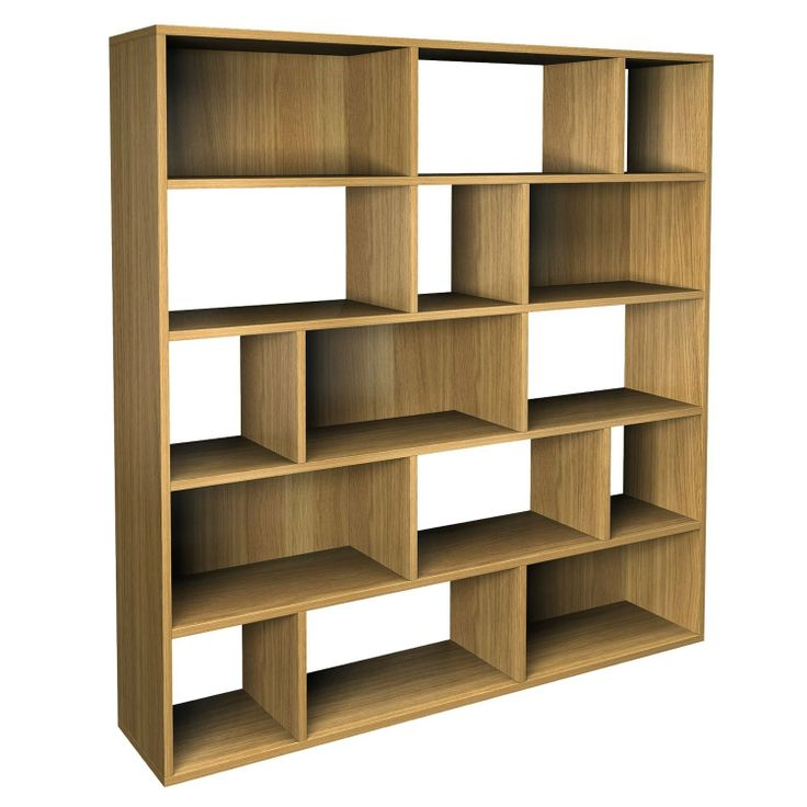 Marco Large Bookcase 15 Open Asymmetric Compartments Finish Walnut Co