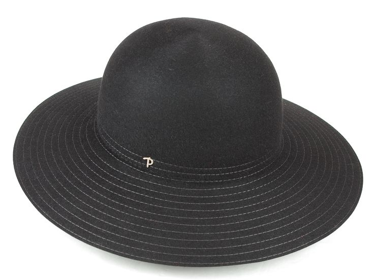 Give your fall / winter outfits a boost with this exclusive PANIZZA 1879 Hat called LAURA Felt Black Hat.  This Panizza model has the classis female shape and it is embellished by stitching. It can be rolled up in your bag.  It is ideal for both a casual looks as well as elegant occasions.   BUY IT NOW at http://finaest.com/designers/panizza-1879/laura-felt-black-hat