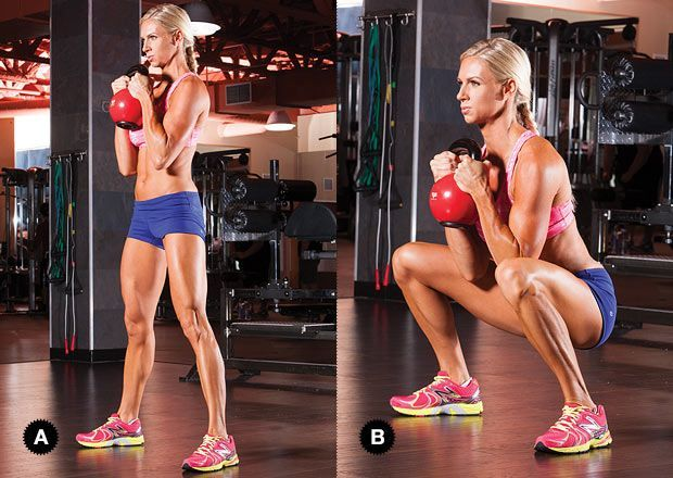 Full-Body Kettlebell Workout Build muscle and burn fat with this 30-minute total-body kettlebell workout.