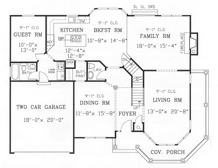 First Floor Plan Image Of GETTYSBURG II House