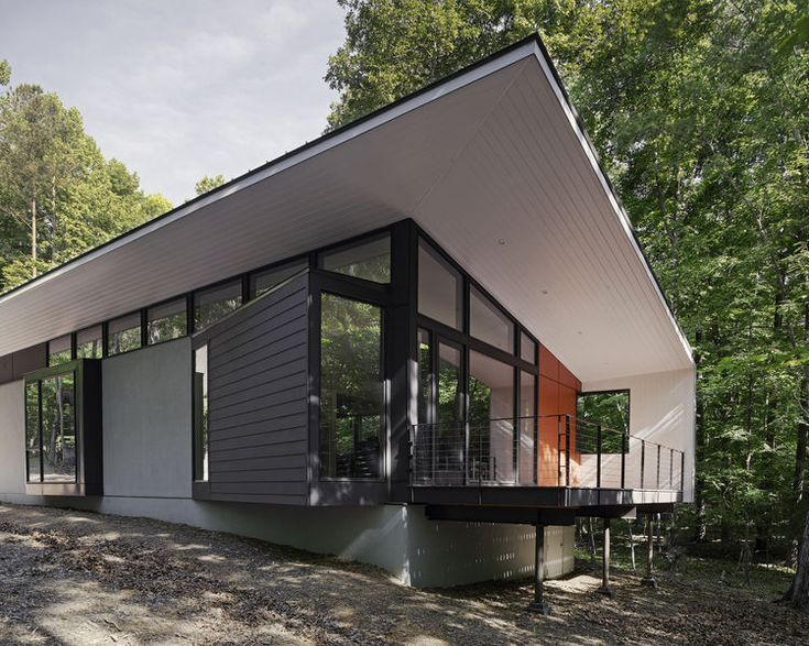 streamlined modern living in the north carolina forest architecture home and the o 39 jays. Black Bedroom Furniture Sets. Home Design Ideas