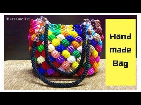 Macrame Bag New Design | Handmade Macrame Bag | Macrame Art - YouTube