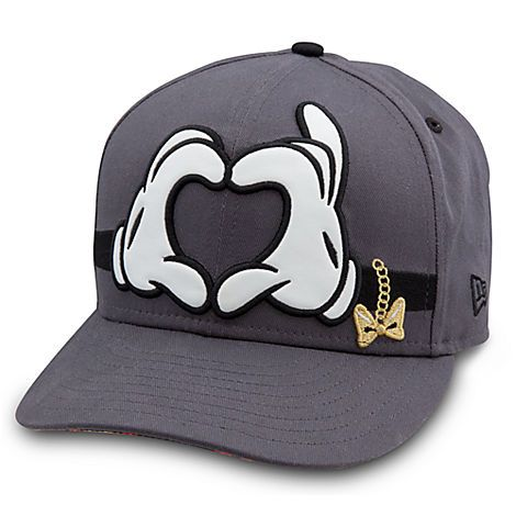 Disney Store Mickey and Minnie Mouse Hat for Women by 9FIFTY heart hands