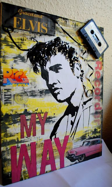artBASM: ELVIS - My WAY '' - Mixed Art Media Collage - BASM
