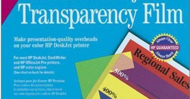 Cómo imprimir transparencias en una impresora HP. Uno de los productos innovadores que se venden en las tiendas de suministros de oficina son las transparencias, las cuales pueden ser usadas en el mercado residencial o no comercial. Antes las transparencias solo podían ser impresas en impresoras láser. Un proceso mediante el cual la tinta de una impresora de inyección a tinta se envuelve por una ...