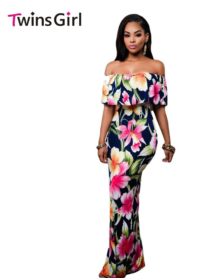 Cheap dresses hats, Buy Quality dresses denim directly from China dress number Suppliers: Sexy Strapless Elegant  Roses Print Off-the-shoulder Maxi Dress Summer Beach Night Party Gowns Vestidos Largos LC61189