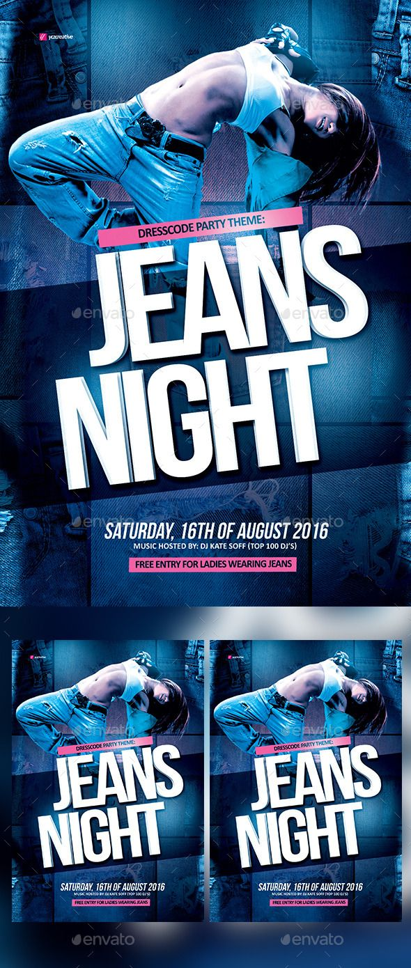 Poster design jeans - Jeans Night Theme