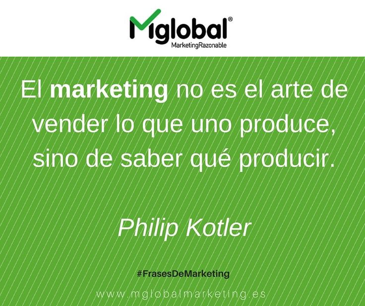 El marketing no es el arte de vender lo que uno produce, sino de saber qué producir. Philip Kotler  #FrasesDeMarketing #MarketingRazonable #MarketingQuotes Confira as nossas recomendações! http://www.estrategiadigital.pt/category/livros-marketing-digital/