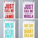 'Just Call Me Delia' Tea Towel