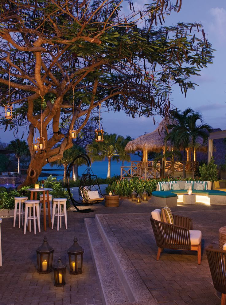 Finally an awesome adults only all inclusive in Costa Rica - woot woot!  Love this outdoor plaza all lit up at night.. perfect place to sip a bev