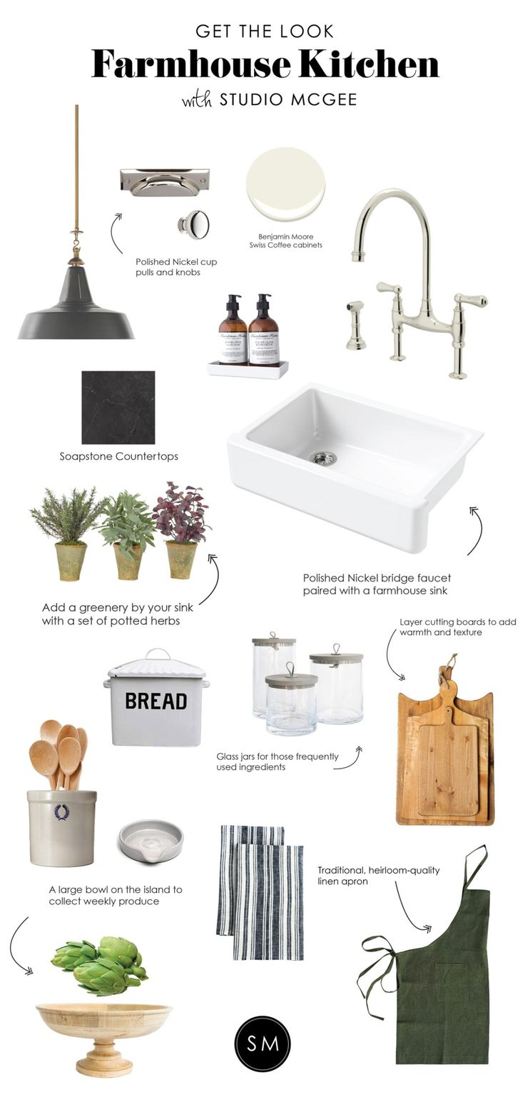 Shop HENRY INDUSTRIAL LARGE HANGING LIGHT, Bevel Edge Bin Pull, Massey 1-1/4in. Solid Round Knob, Swiss Coffee OC-45 | Benjamin Moore, Faucet, Sink, Kitchen Countertop, URBAN FARMHOUSE BREAD CONTAINER, REED CANISTER, FRENCH CUTTING BOARDS, BURKE HAND TOWEL, CANYON CROCKS, ASSORTED BEECHWOOD SPOONS, CANYON SPOON REST, WOODEN BOWL ON PEDESTAL, LAUREL APRON, MURCHISON-HUME HAND DUO and more