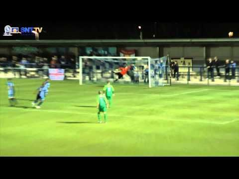 Magical FA Cup Goal - Rene Steer of St Neots Town v Canvey Island  Thunder Strike!