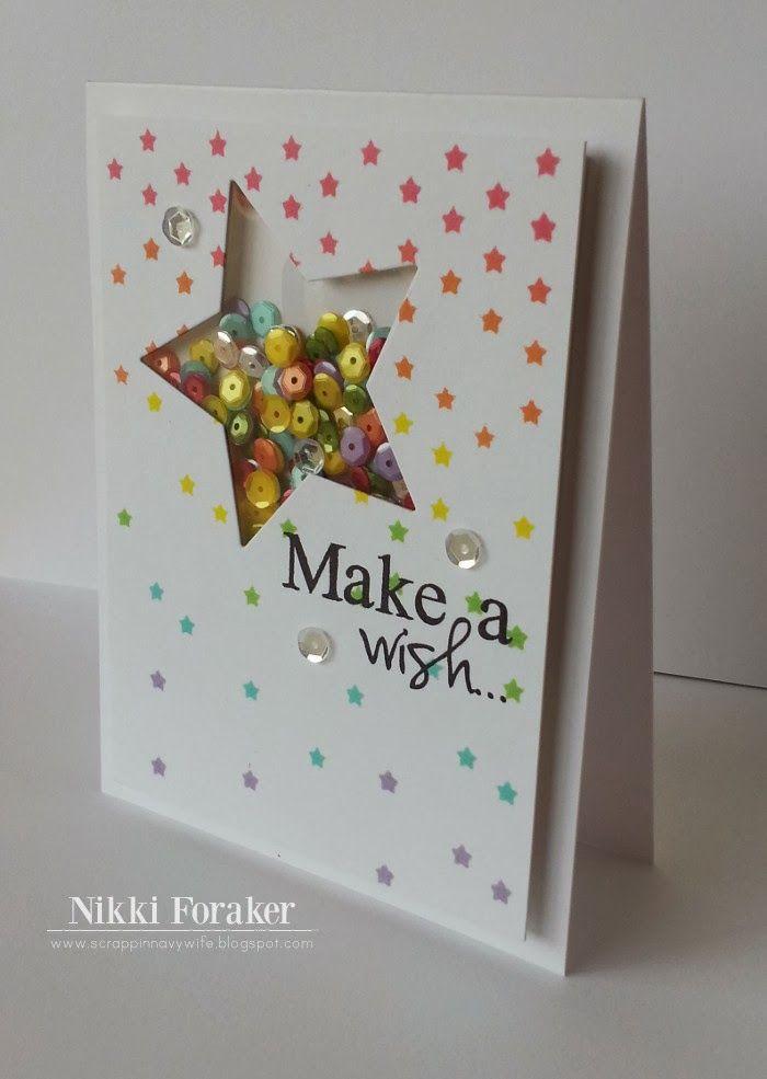 New Star framelits and Star mask... #SU shaker card