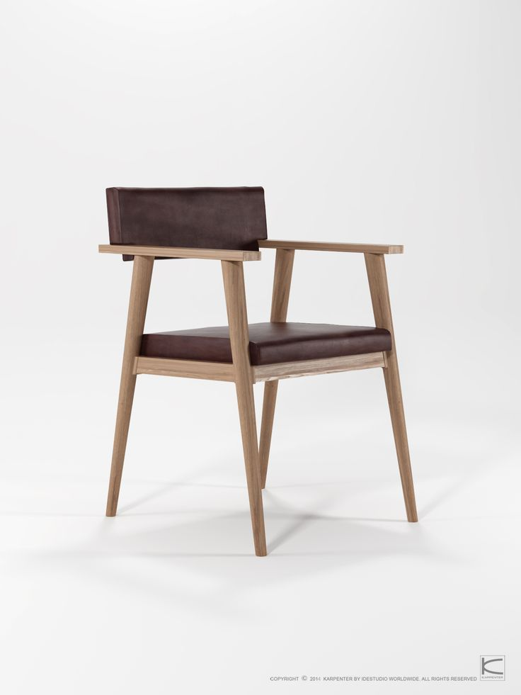 VINTAGE Leather seat armchair by KARPENTER www.karpenter.com  #karpenter #furniture #chair #seating #armchair #leatherchair #leatherseat