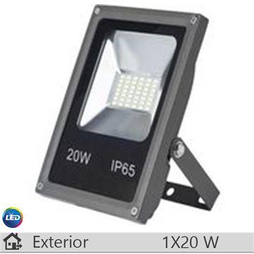 Proiector LED, antracit, 20W, lumina rece