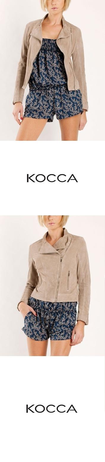 """INFO"" Giubbino in pelle/Leather jacket - 100% Vera Pelle and ""TORIBIA"" abito fantasia/fantasy dress - available @ shop.kocca.it"