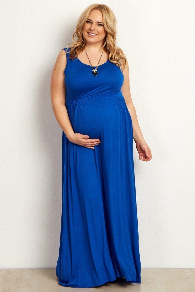 52cff196a86f Royal Basic Sleeveless Plus Maternity Maxi Dress | Fall Maternity Fashion | Plus  size maternity dresses, Plus size maxi dresses, Plus size pregnancy