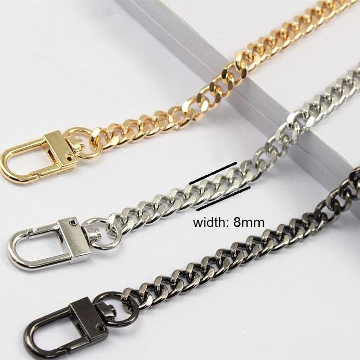 Free shipping DIY bag strap chain Wallet  handle purse metal strap chain strap replaced bag strap bag spare parts
