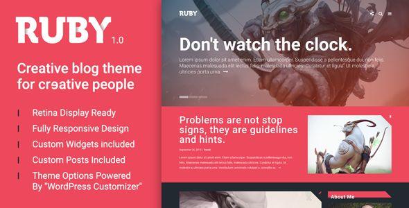 Ruby - A Creative WordPress Blog Theme