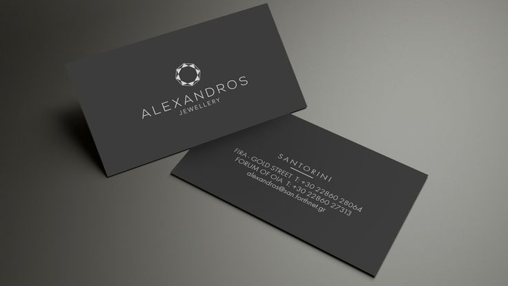 Business Card for Aleandros Jewellery