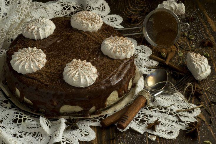 Шоколадный торт с зефиром. Пошаговый рецепт с фото - Ботаничка.ru